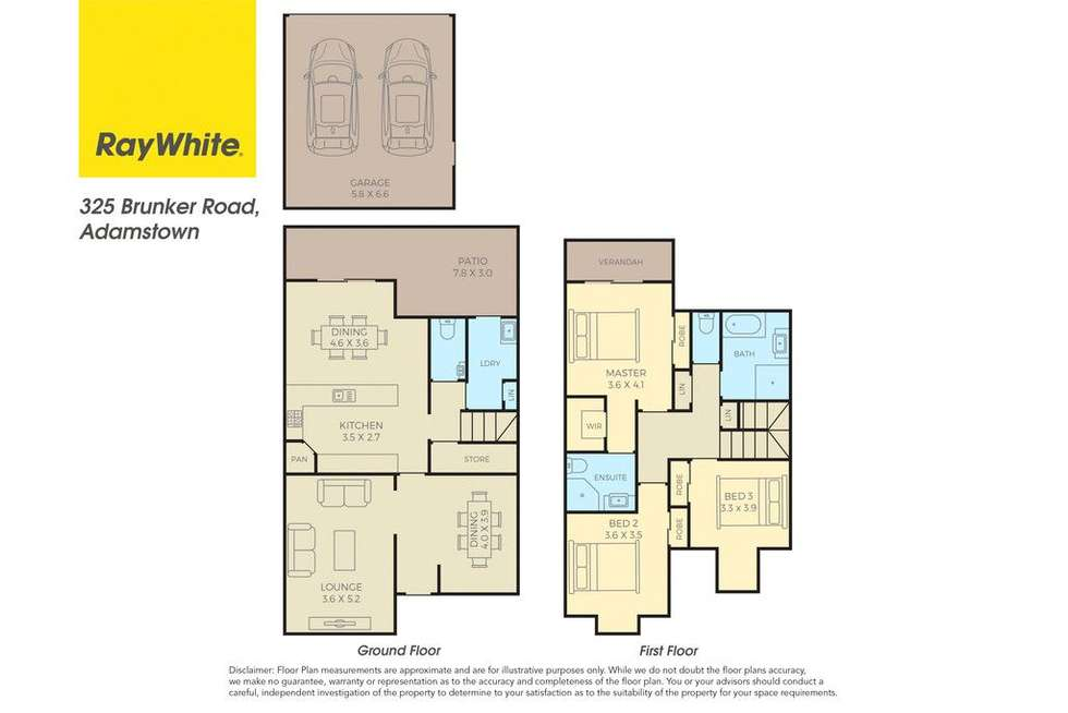 Floorplan of Homely townhouse listing, 325 Brunker Road, Adamstown NSW 2289