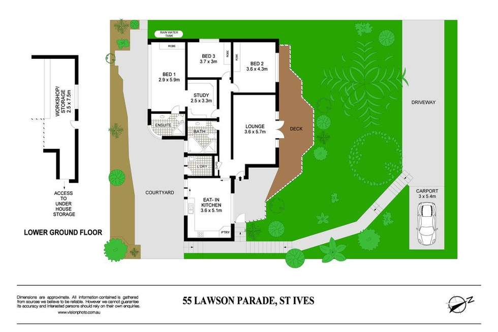 Floorplan of Homely house listing, 55 Lawson Parade, St Ives NSW 2075