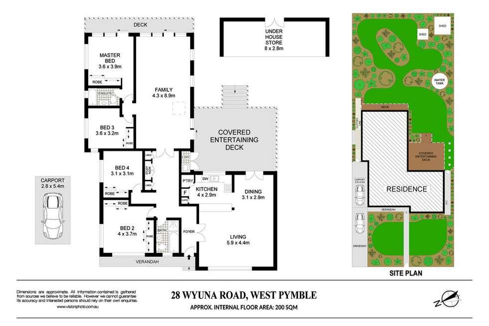 Floorplan of Homely house listing, 28 Wyuna Road, West Pymble NSW 2073