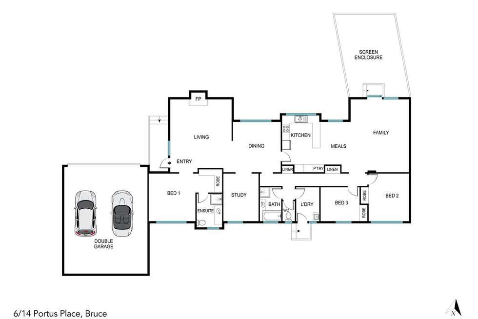 Floorplan of Homely townhouse listing, 6/14 Portus Place, Bruce ACT 2617