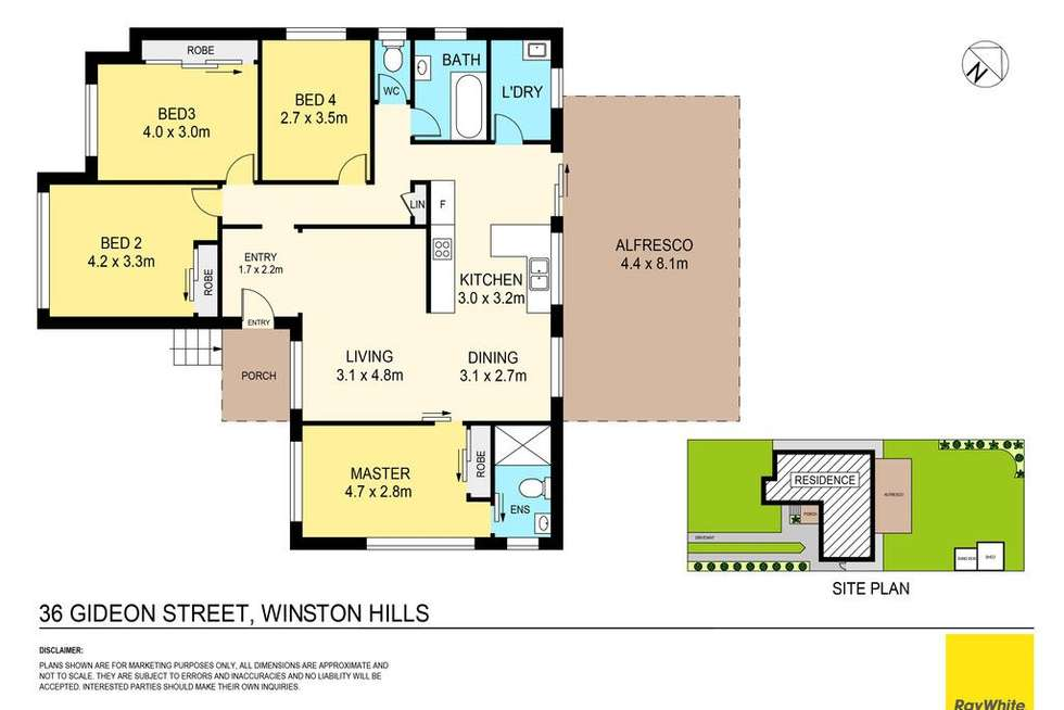 Floorplan of Homely house listing, 36 Gideon Street, Winston Hills NSW 2153