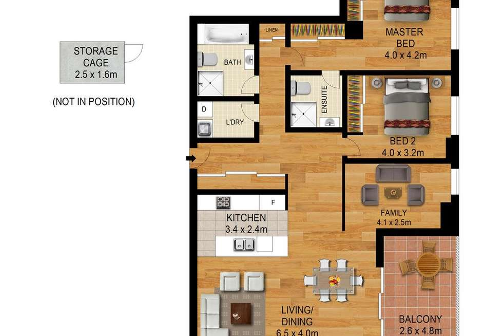 Floorplan of Homely unit listing, 217/3 Gerbera Place, Kellyville NSW 2155