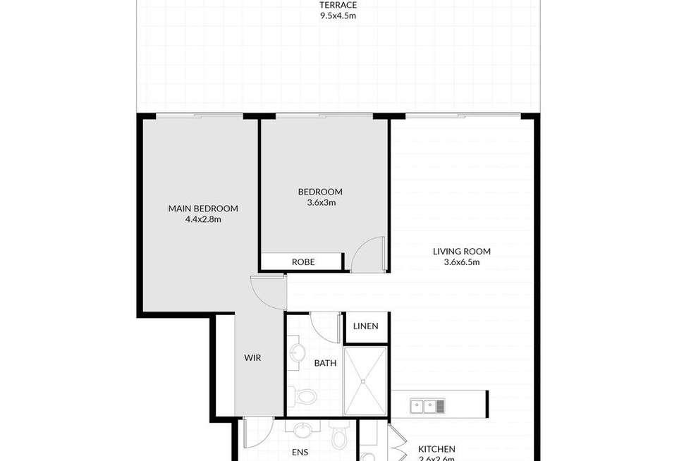 Floorplan of Homely apartment listing, 8/12 Baker Street, Gosford NSW 2250