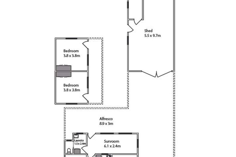 Floorplan of Homely house listing, 23 Olive Avenue, Mildura VIC 3500