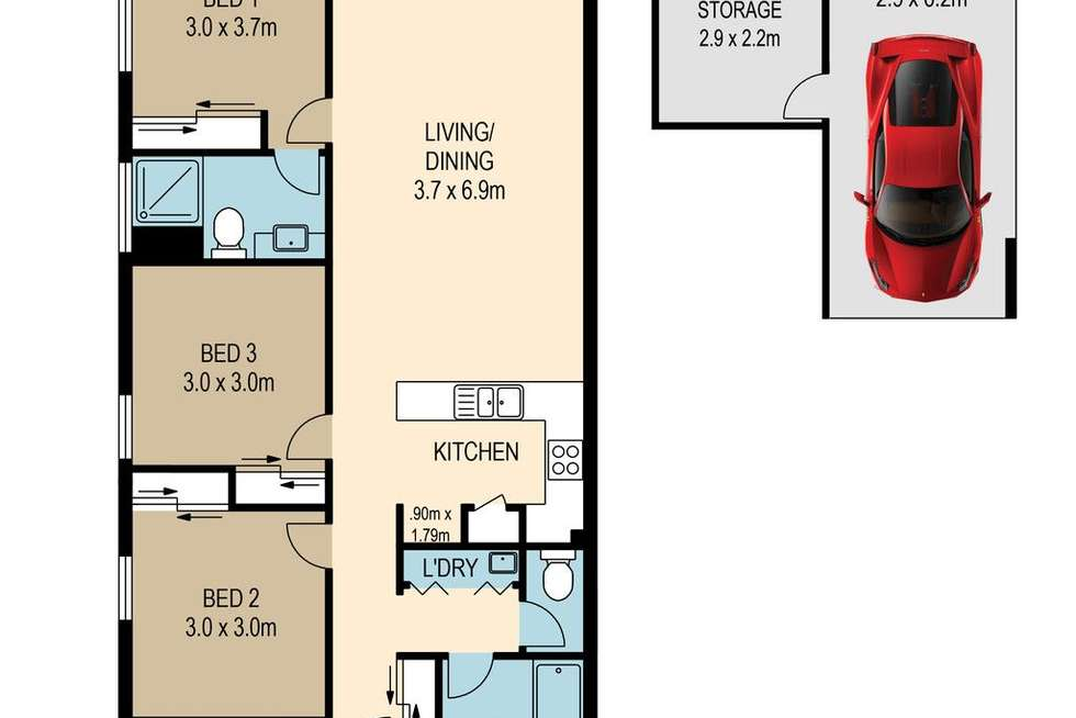 Floorplan of Homely unit listing, 13/18-24 Payne Road, The Gap QLD 4061