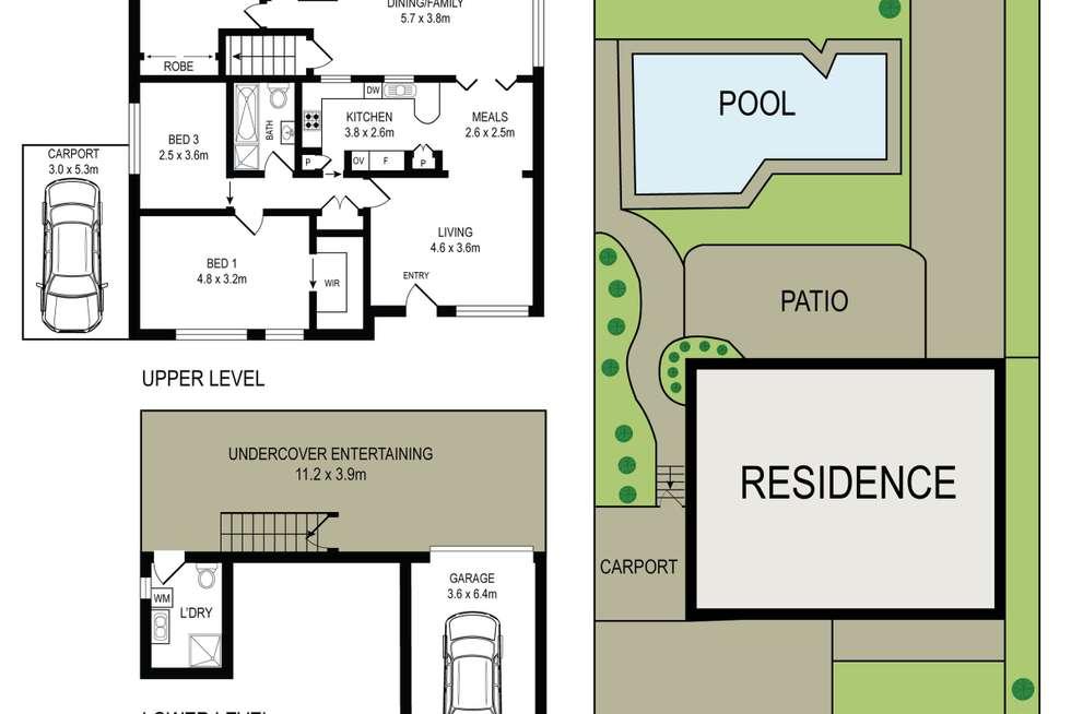 Floorplan of Homely house listing, 51 Kerrie Road, Oatlands NSW 2117