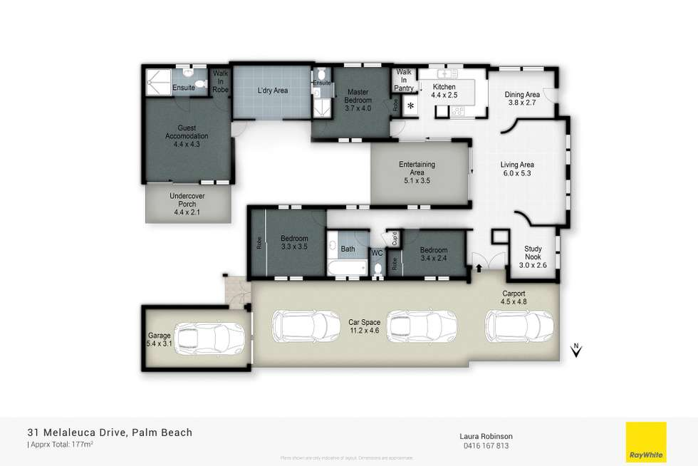 Floorplan of Homely house listing, 31 Melaleuca Drive, Palm Beach QLD 4221