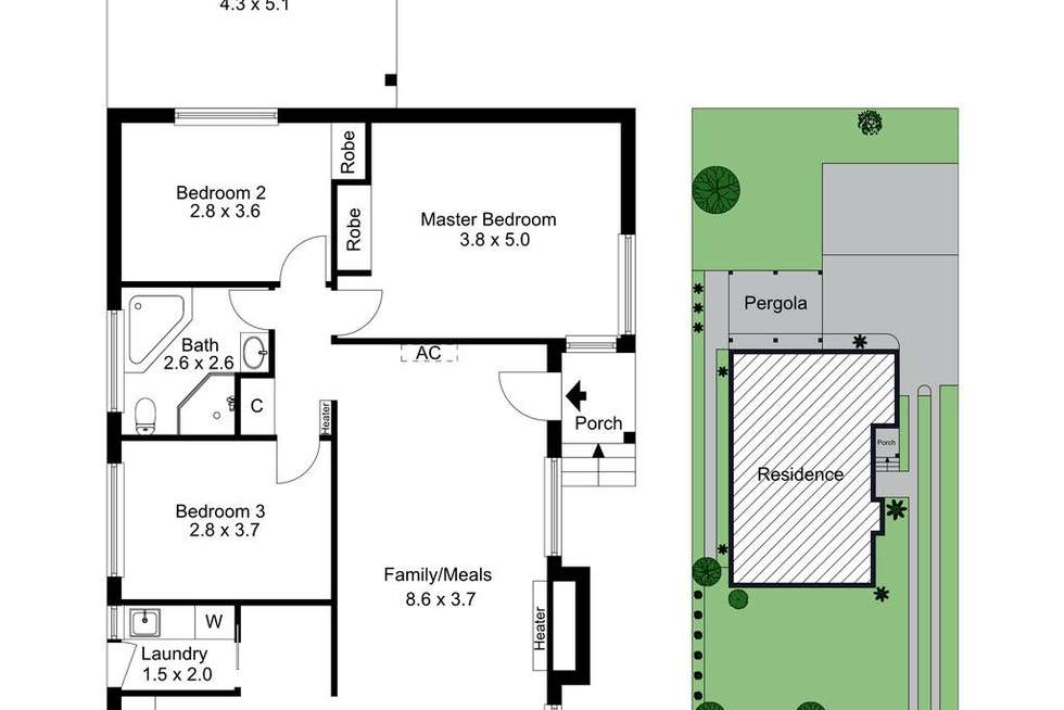 Floorplan of Homely house listing, 20 Hill Street, Frankston VIC 3199