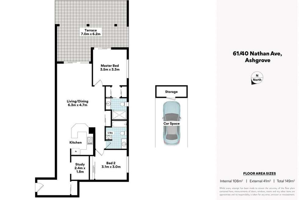 Floorplan of Homely house listing, 61/40 Nathan Avenue, Ashgrove QLD 4060