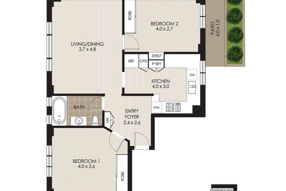 Floorplan of Homely apartment listing, 1/60B Raglan Street, Mosman NSW 2088