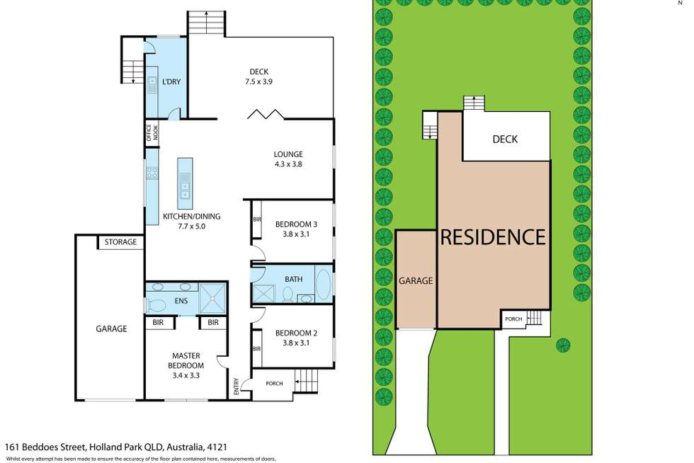 Floorplan of Homely house listing, 161 Beddoes Street, Holland Park QLD 4121