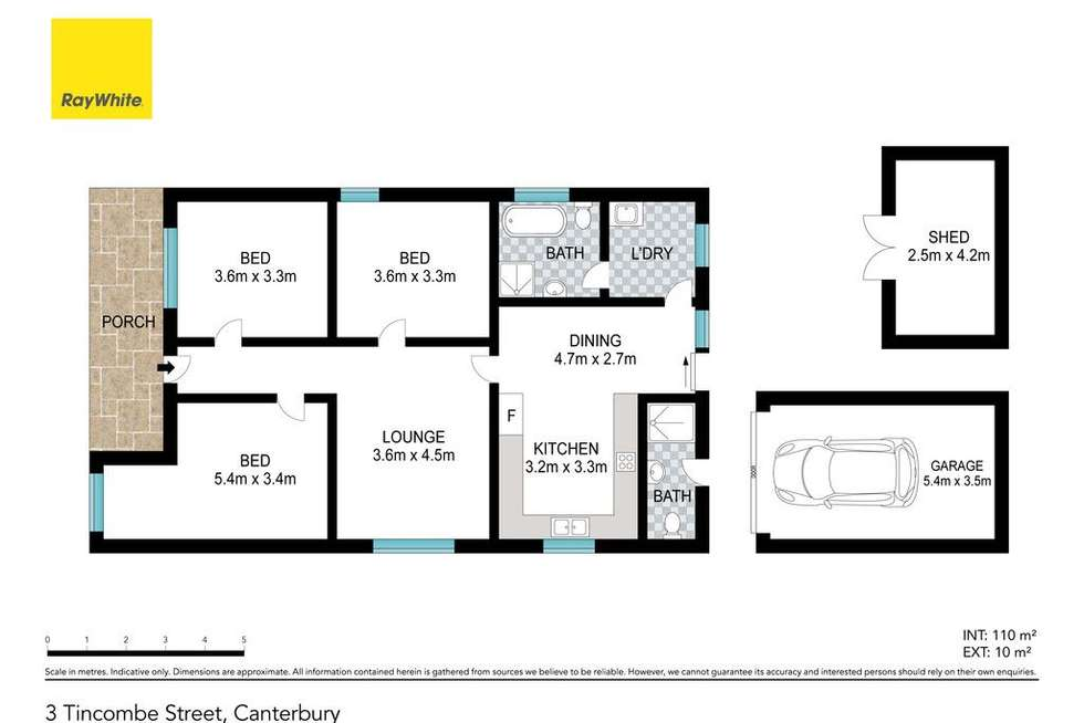 Floorplan of Homely house listing, 3 Tincombe Street, Canterbury NSW 2193