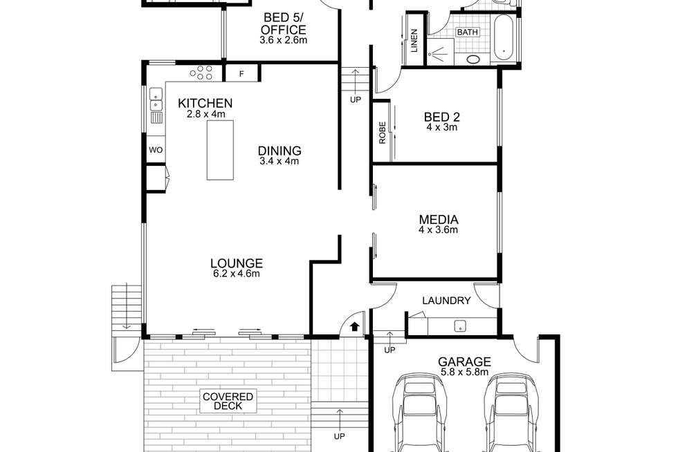 Floorplan of Homely house listing, 6 Greensboro Place, Little Mountain QLD 4551