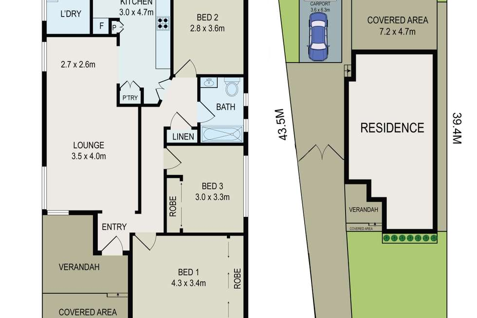 Floorplan of Homely house listing, 14 Newman Street, Bass Hill NSW 2197