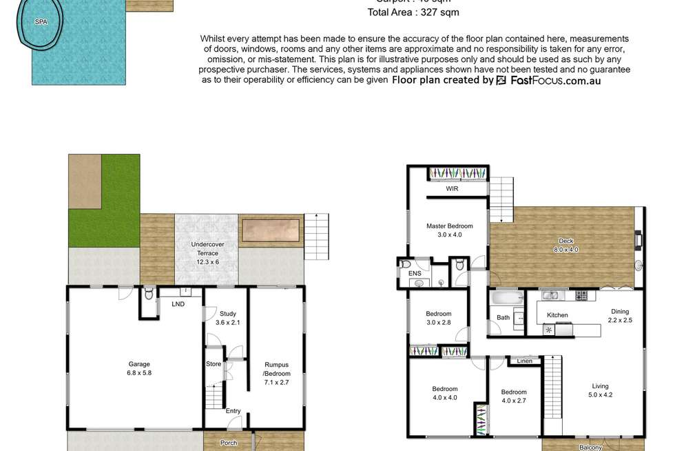 Floorplan of Homely house listing, 127 Douglas Street, Oxley QLD 4075