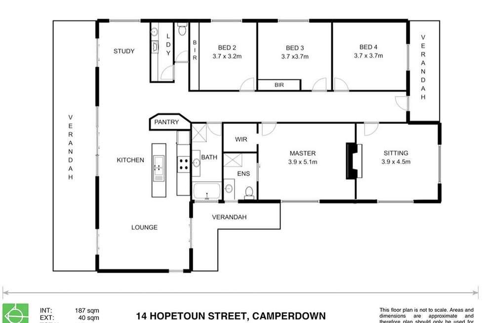 Floorplan of Homely house listing, 14 Hopetoun Street, Camperdown VIC 3260