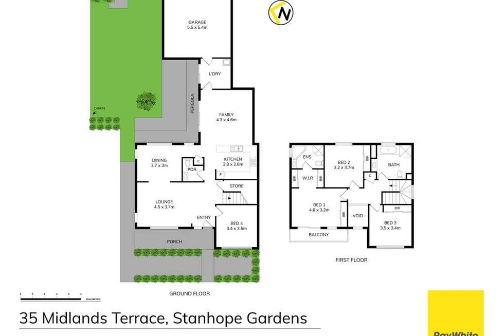 Floorplan of Homely house listing, 35 Midlands Terrace, Stanhope Gardens NSW 2768