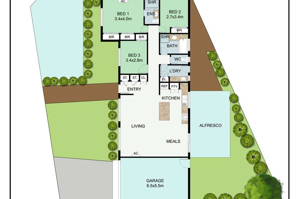 Floorplan of Homely house listing, 2 Barrington Court, Baxter VIC 3911