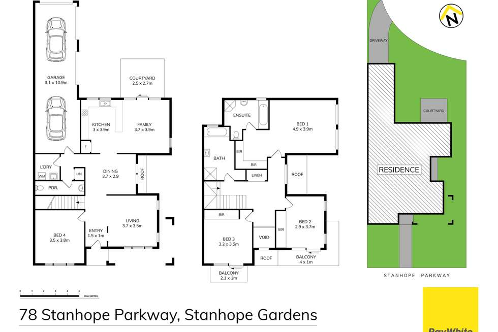 Floorplan of Homely house listing, 78 Stanhope Parkway, Stanhope Gardens NSW 2768