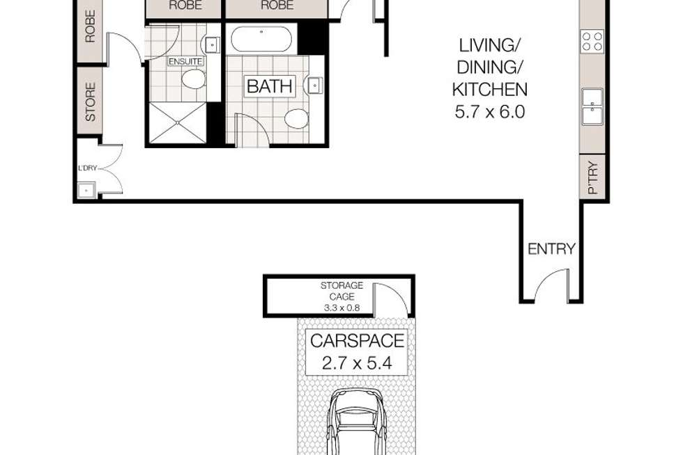 Floorplan of Homely unit listing, 1/3 Havilah Lane, Lindfield NSW 2070