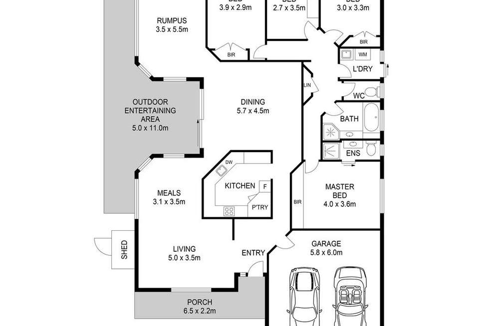 Floorplan of Homely house listing, 35 Solitaire Court, Stanhope Gardens NSW 2768