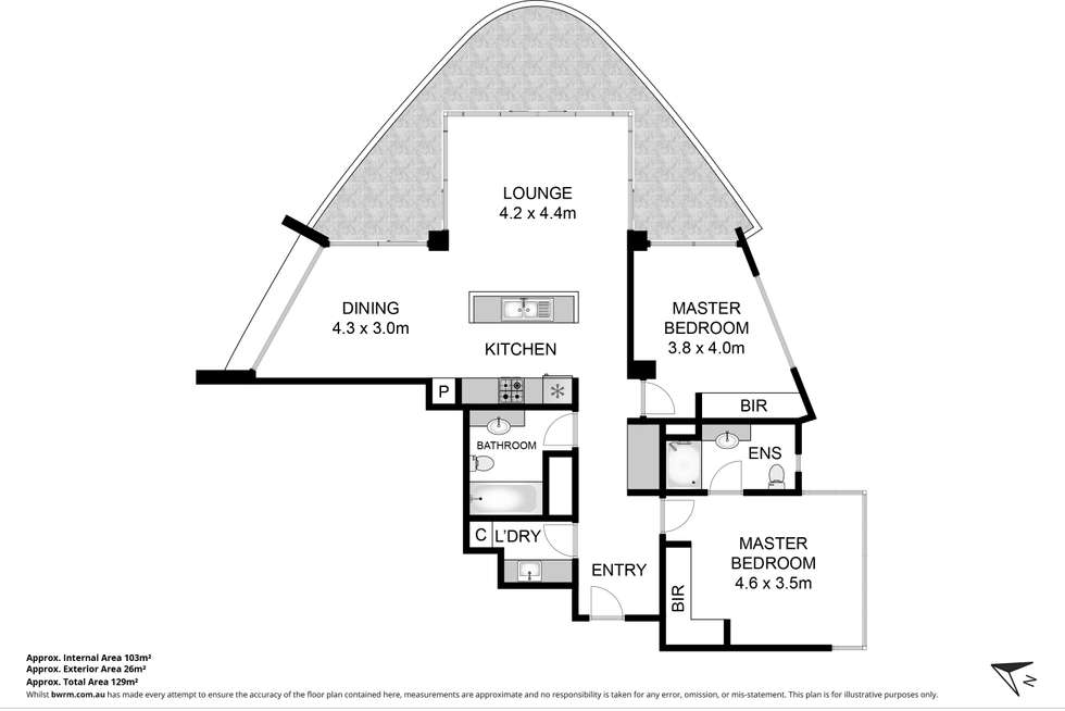 Floorplan of Homely apartment listing, 1301/50 Marine Parade, Southport QLD 4215
