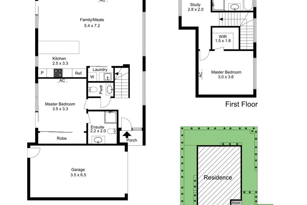 Floorplan of Homely townhouse listing, 3/34 Ronald Avenue, Frankston South VIC 3199