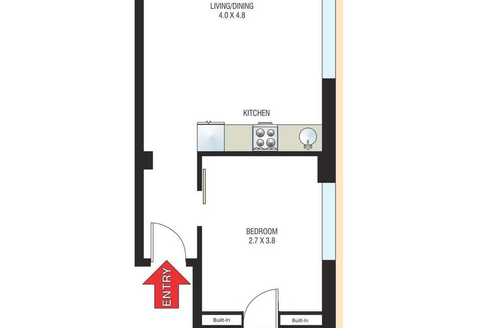 Floorplan of Homely apartment listing, 702/40 Macleay Street, Potts Point NSW 2011