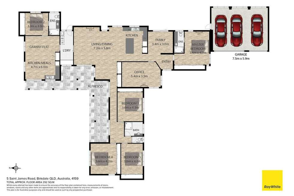 Floorplan of Homely house listing, 5 St James Road, Birkdale QLD 4159
