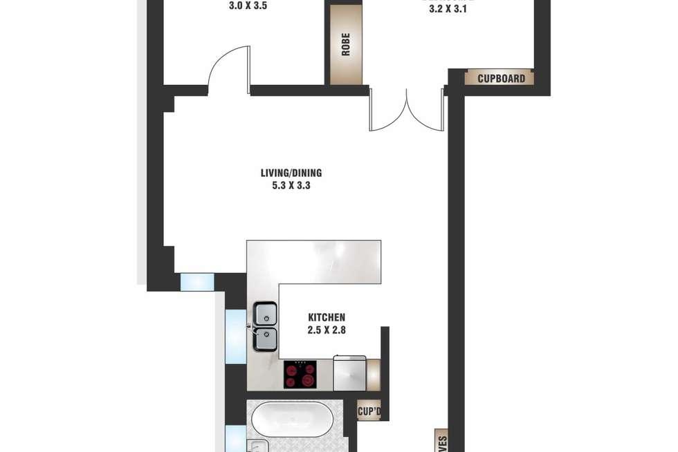 Floorplan of Homely apartment listing, 2/57 Darlinghurst Road, Potts Point NSW 2011