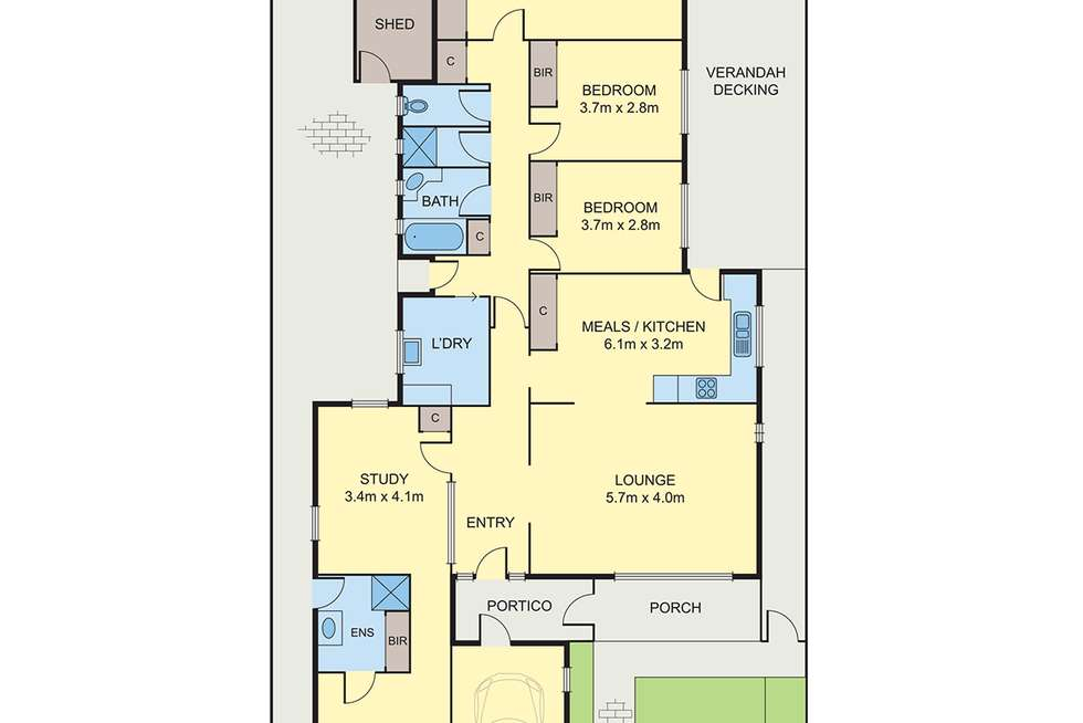 Floorplan of Homely house listing, 223 Bell Street, Coburg VIC 3058