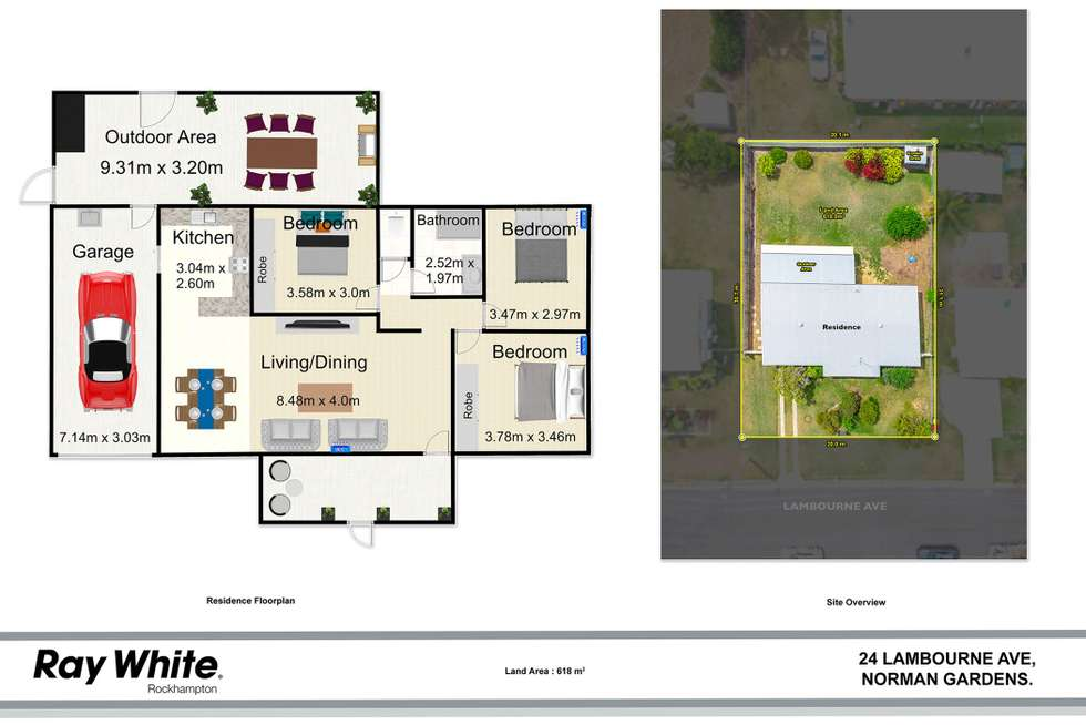 Floorplan of Homely house listing, 24 Lambourne Avenue, Norman Gardens QLD 4701