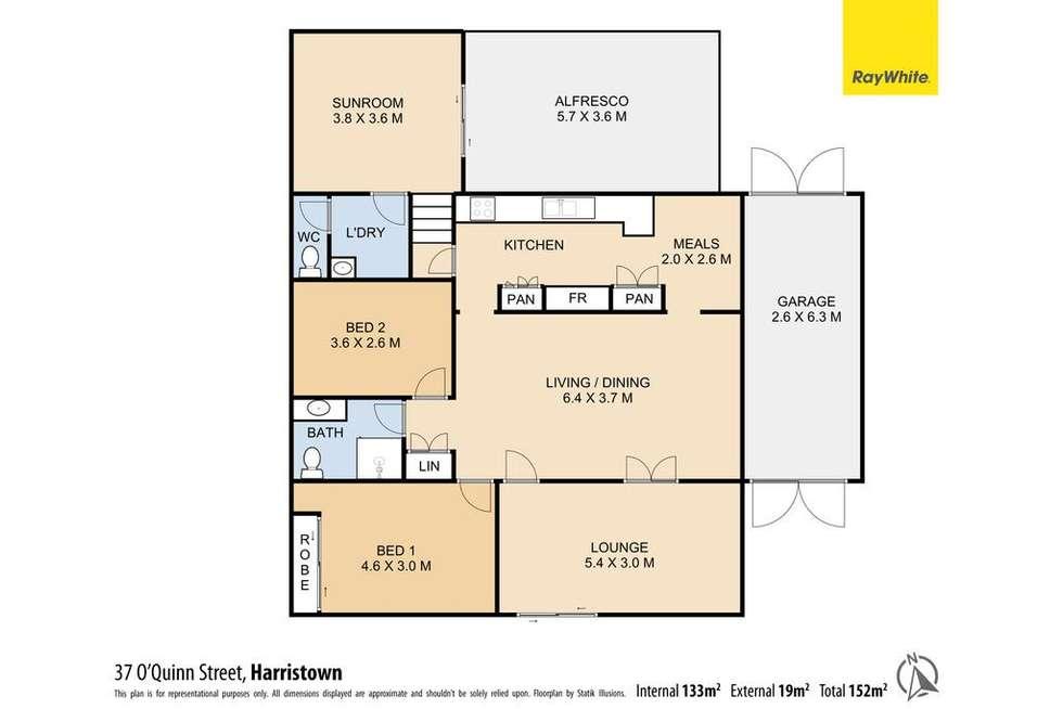 Floorplan of Homely house listing, 37 O'Quinn Street, Harristown QLD 4350