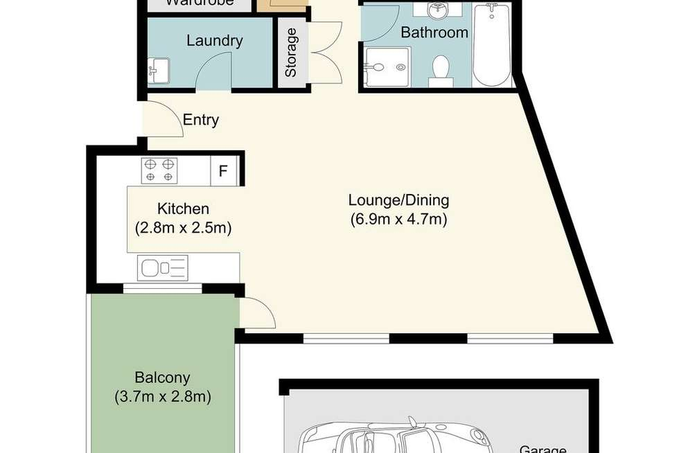 Floorplan of Homely unit listing, 9/14-18 Water Street, Hornsby NSW 2077