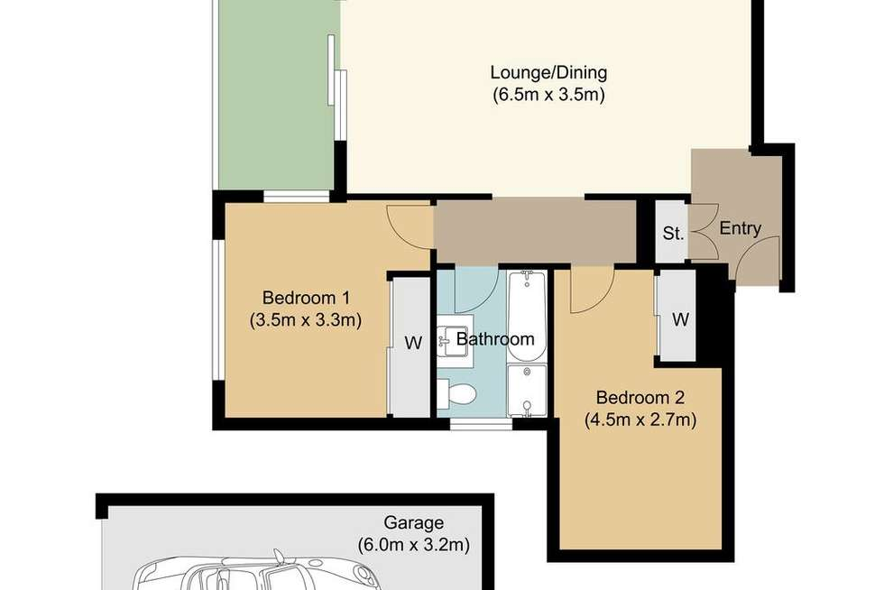 Floorplan of Homely unit listing, 2/36-38 Florence Street, Hornsby NSW 2077