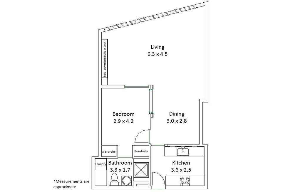Floorplan of Homely apartment listing, 301/227 Victoria Street, Darlinghurst NSW 2010