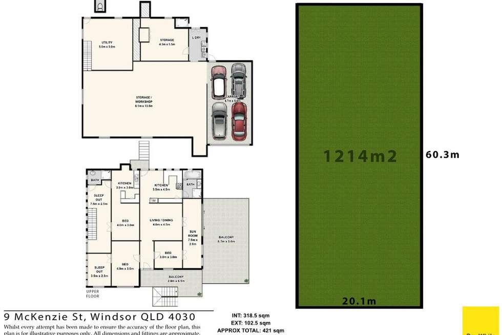 Floorplan of Homely house listing, 9 Mckenzie Street, Windsor QLD 4030