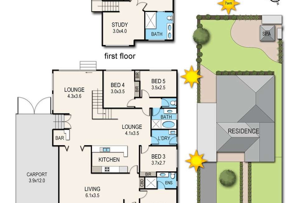 Floorplan of Homely house listing, 62 Raphael Crescent, Frankston VIC 3199