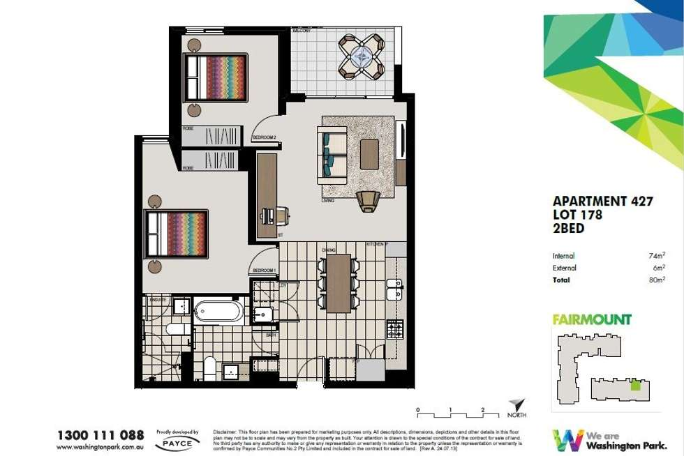 Floorplan of Homely apartment listing, 427/1 Vermont Crescent, Riverwood NSW 2210