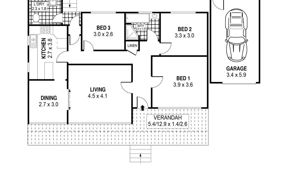 Floorplan of Homely house listing, 3 Booyong Street, West Wollongong NSW 2500
