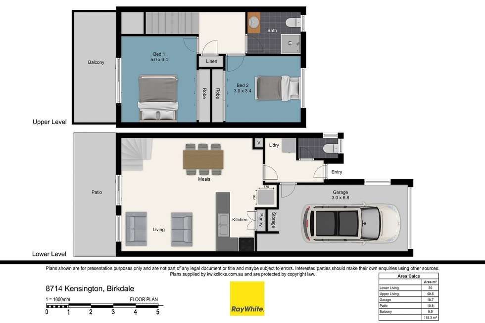 Floorplan of Homely townhouse listing, 87/14 Kensington Place, Birkdale QLD 4159