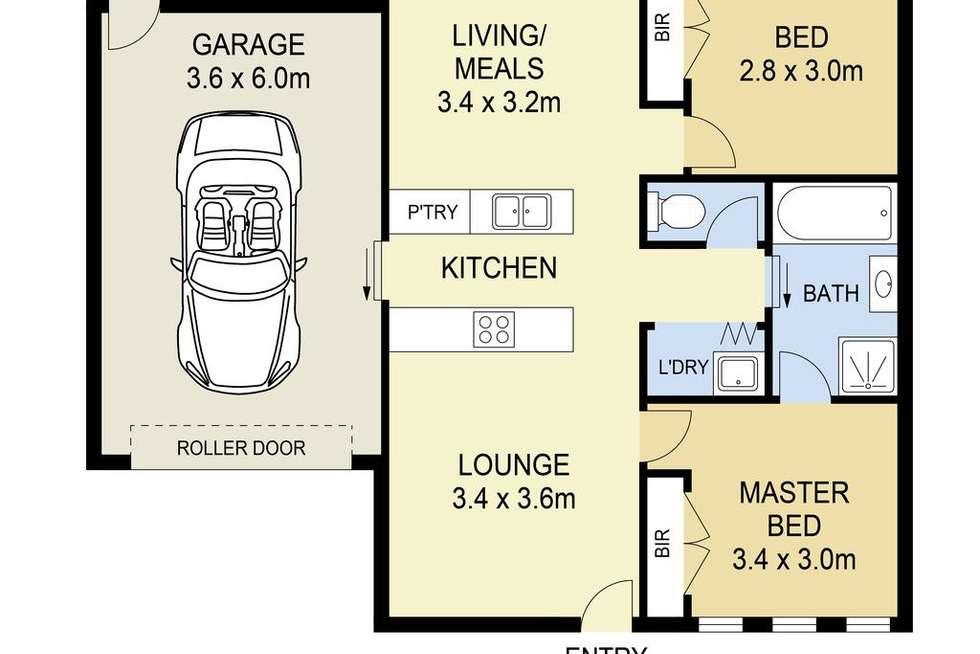 Floorplan of Homely house listing, 27 Silverleaf Drive, Melton VIC 3337
