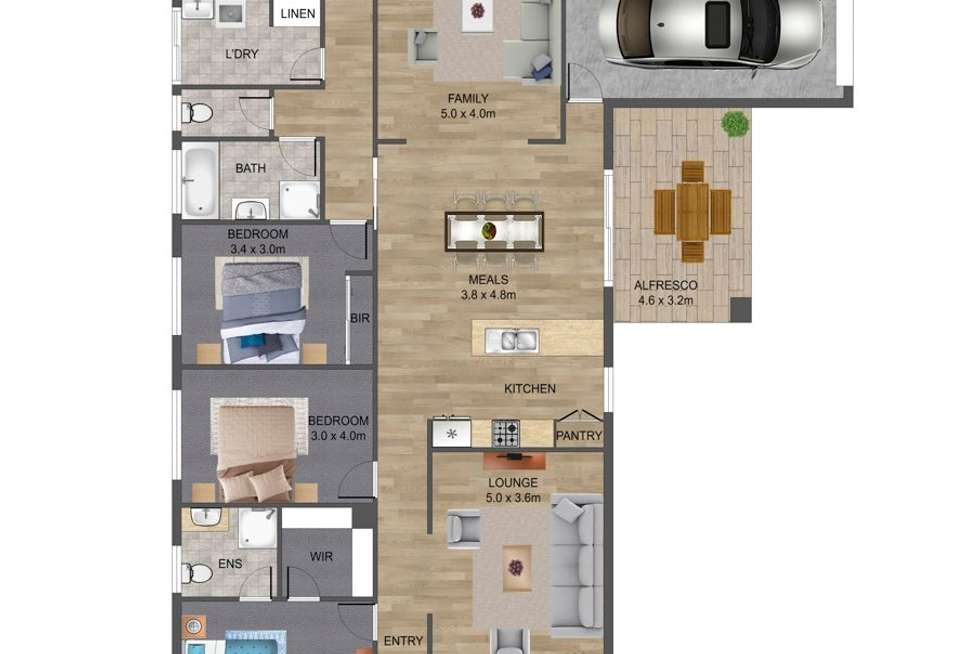 Floorplan of Homely house listing, 25 Long Tree Drive, Harkness VIC 3337