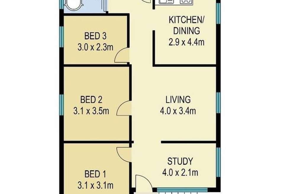 Floorplan of Homely house listing, 14 Longwood Street, Woolloongabba QLD 4102