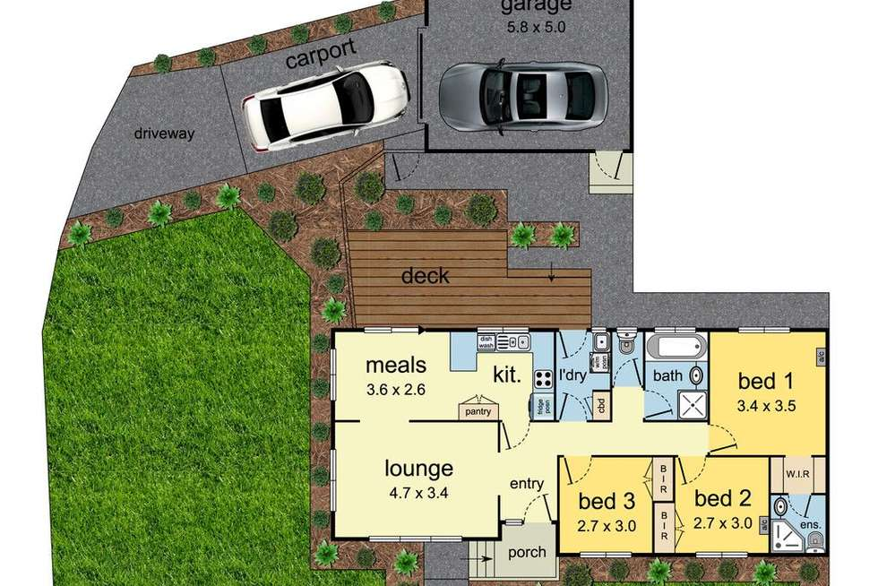 Floorplan of Homely house listing, 6 Mallee Court, Mulgrave VIC 3170