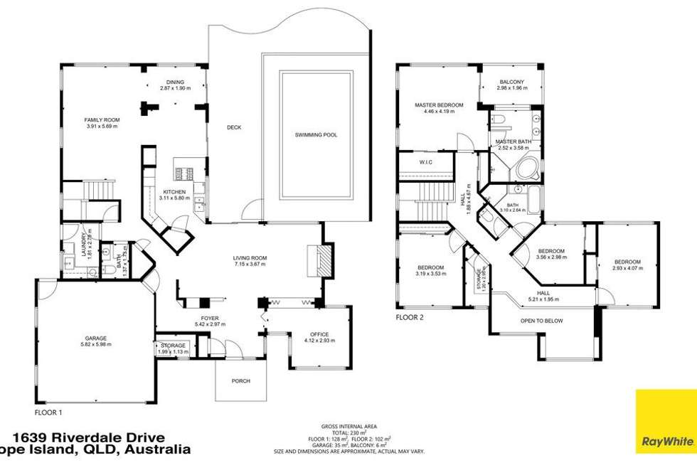 Floorplan of Homely house listing, 1639 Riverdale Drive, Hope Island QLD 4212