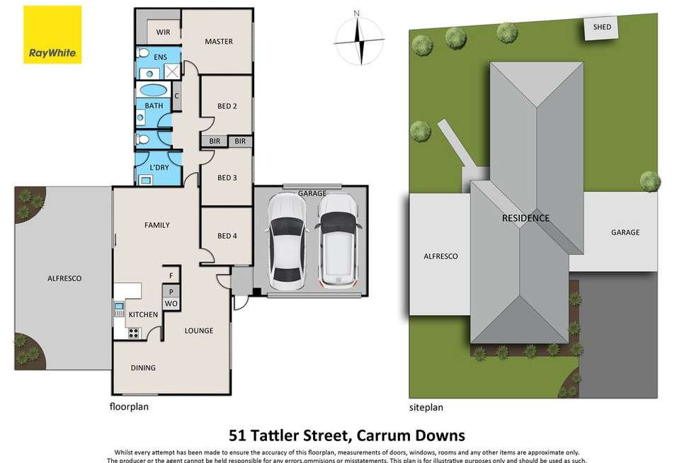 Floorplan of Homely house listing, 51 Tattler Street, Carrum Downs VIC 3201