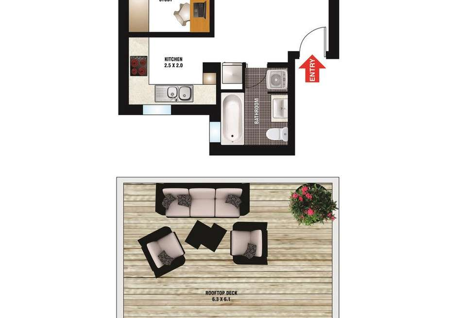 Floorplan of Homely apartment listing, 21/165 Victoria Street, Potts Point NSW 2011
