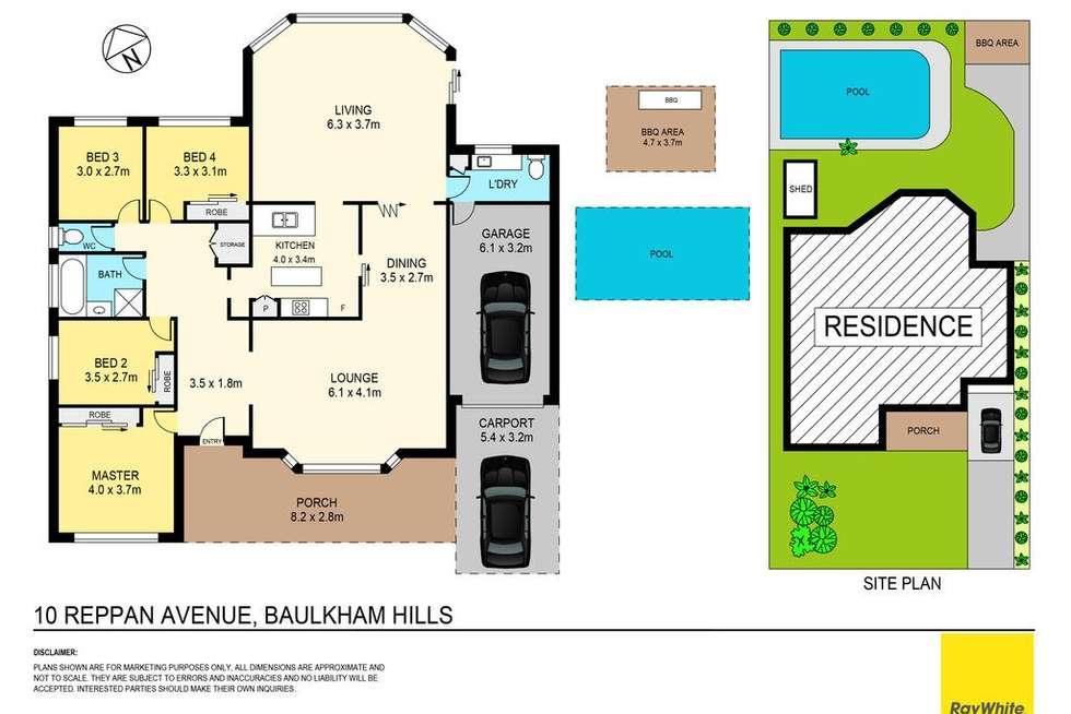 Floorplan of Homely house listing, 10 Reppan Avenue, Baulkham Hills NSW 2153