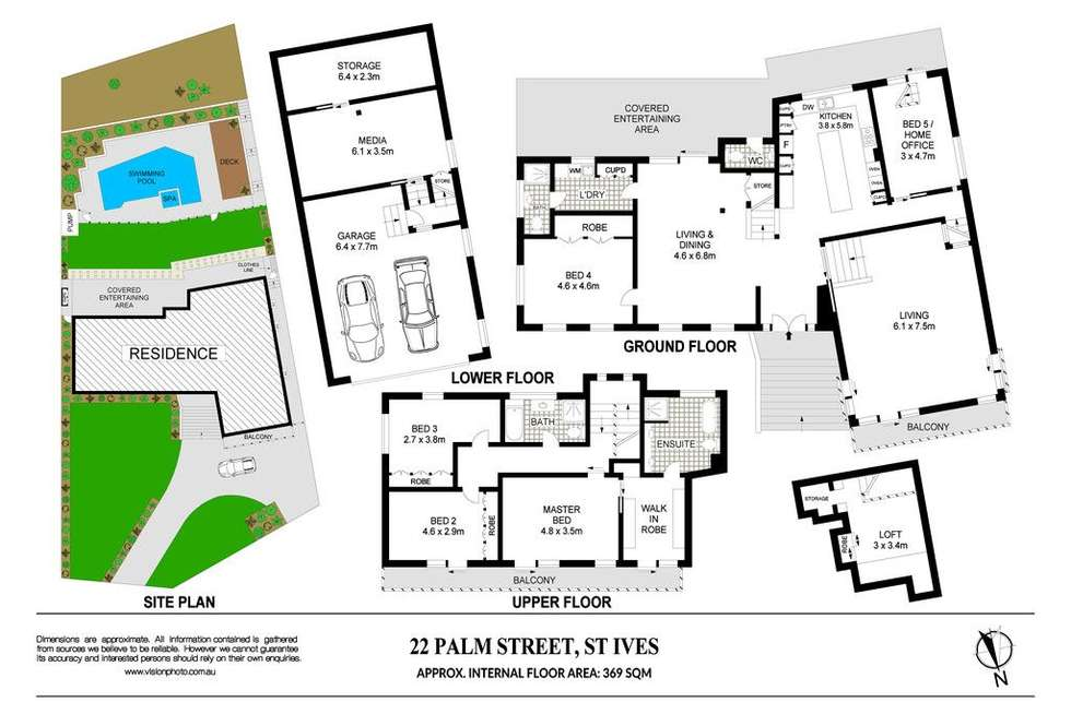 Floorplan of Homely house listing, 22 Palm Street, St Ives NSW 2075